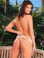 Megan - Juicy Temptress - Brunette babe pleasuring herself