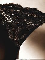 Brea Lynn in a seductive black and white pictorial